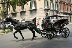 Taxi trainato da cavalli nella P Fotografia Stock Libera da Diritti