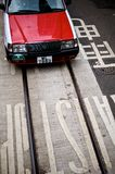 Taxi and Tram Lane Stock Photography