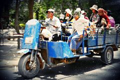 Cambodian Taxi. Taxi transporting people around Angkor Wat, Cambodia Stock Image