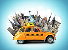 Taxi and travel Royalty Free Stock Photography