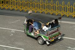 Taxi Tuk -tuk in Bangkok royalty-vrije stock foto