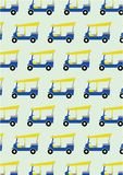Taxi tuk tuk pattern background Stock Photography