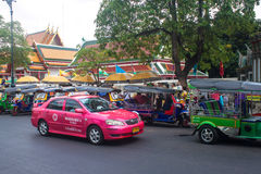 Taxi and tuk tuks Royalty Free Stock Photography