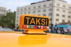 Taxi turco Fotografía de archivo libre de regalías