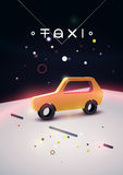 Taxi typographic modern poster with isometric taxi cab. Vector illustration. Royalty Free Stock Photo