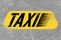 Taxi. Typographic retro grunge poster with textural background. Vector illustration. Stock Images