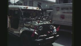 Taxi variopinti tradizionali stock footage