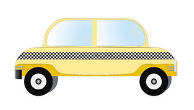 Taxi, vecteur de taxi Photo libre de droits