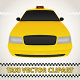 Taxi Vector Clipart Royalty Free Stock Photography