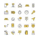 Taxi vector icons set Stock Photos