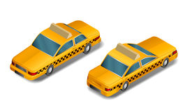 Taxi- vector- isometric perspective Stock Photo