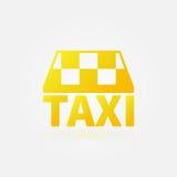 Taxi vector yellow icon or logo Royalty Free Stock Photos