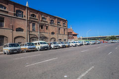 Taxi Vehicles Parked Blue Royalty Free Stock Photos