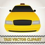 Taxi-Vektor Clipart Lizenzfreie Stockfotografie
