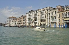 Taxi veneciano Fotografía de archivo libre de regalías