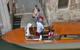 Taxi in Venice Royalty Free Stock Image