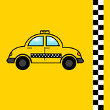 Taxi vlak pictogram, vectoren, auto, symbool Stock Foto