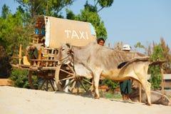 Taxi w Mingun, Myanmar Obrazy Stock