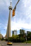 Taxi w ulicie Toronto, Kanada Zdjęcia Royalty Free