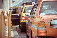 Taxi wachtend gebied dichtbij het Ueno-Park in Tokyo Stock Fotografie