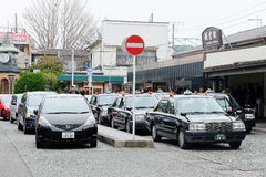 Taxi waiting area near the kamakura station in Tokyo Royalty Free Stock Photography