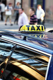 Taxi waiting for clients Royalty Free Stock Photo