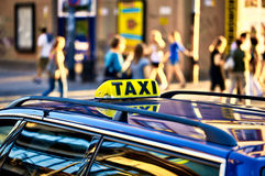 Taxi waiting for clients Royalty Free Stock Images