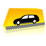 Taxi on the way Royalty Free Stock Photo