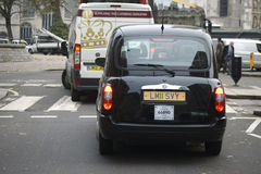 Taxi in Westminster Stock Image