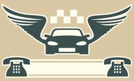 Taxi wizytówka Obraz Stock