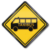 Taxi y autobús del taxi stock de ilustración