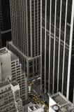 Taxi y la ciudad Imagenes de archivo