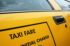 Taxi - yellow cab fare. New York yellow taxi-cab detail Stock Images