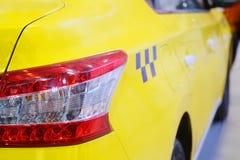 Taxi yellow cab Stock Photos