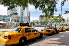 Taxi yellow cab Stock Photography