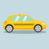 Taxi yellow car cartoon vector illustration Stock Photos