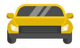 Taxi yellow car vector illustration. Royalty Free Stock Images
