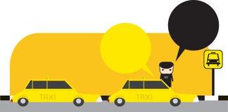 Taxi yellow Royalty Free Stock Photo