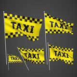 Taxi - yellow vector flags Royalty Free Stock Image