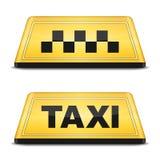 Taxi-Zeichen Stockbilder