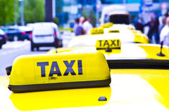 Taxi znak Zdjęcia Royalty Free