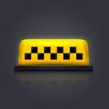 Taxi znak Obrazy Royalty Free