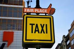 Taxi znak, Praga Zdjęcie Royalty Free