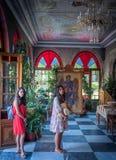 Taxiachis monaster, Mantamados, Lesvos, Grecja Czerwiec 25, 2018: zdjęcie stock