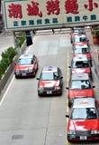 Taxiaffär i Hong Kong Arkivfoton