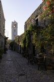 Taxiarchis, Taksiarhon, iglesia en el pueblo de Mesta en Quíos foto de archivo libre de regalías