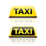Taxiauto-Dachzeichen Stockfotografie