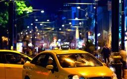 Taxiauto in Istanbul Lizenzfreies Stockfoto