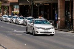 Taxiautos in Adelaide Lizenzfreies Stockbild