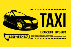 Taxiautoservice-Plakat Stockbilder